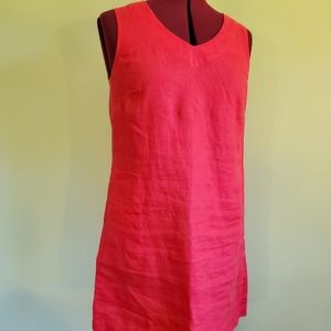 J. Jill Love Linen Women Pink Dress XS Petite XSP